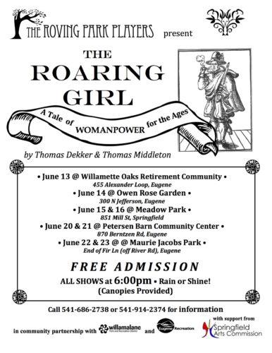 THE ROARING GIRL performs June 13, 14, 15, 16 & 20, 21, 22